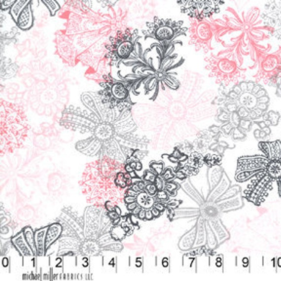 Love Lace Bloom Michael Miller Fabric 1 yard, yardage available