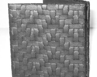 Magic Wallet, Black Basket Weave Mini Magic Wallet