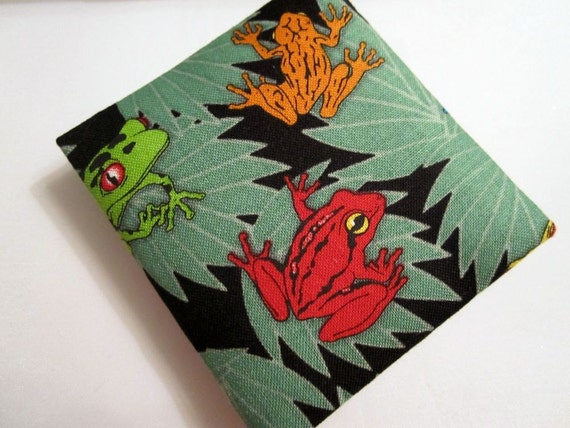 Frogs on Lily Pads, Mini Magic Wallet