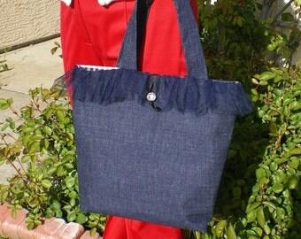Denim Indigo Handbag Purse