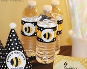 Little Bumble Bee Printable Water Bottle Wraps - Digital File
