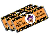 Happy Halloween Witchy Candy Bar Wraps - Digital File