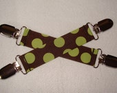 Mitten Clips|  Cool Kids | No More LOST Mittens | Brown with Green Dots