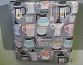 NEW Hanging Square HEAT SEALED Wet Bag - Coffee Time