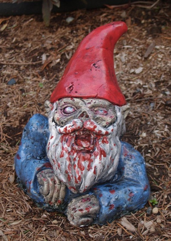 "Zombie Garden Gnome, ""Rising Dead""  (Allow 4-6 weeks for delivery)"