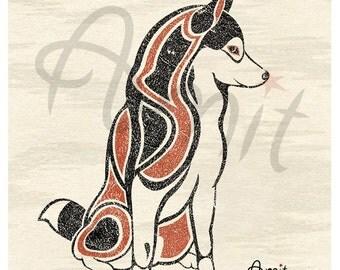northwest style siberian husky