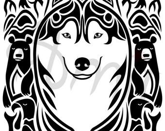 Siberian husky spirit