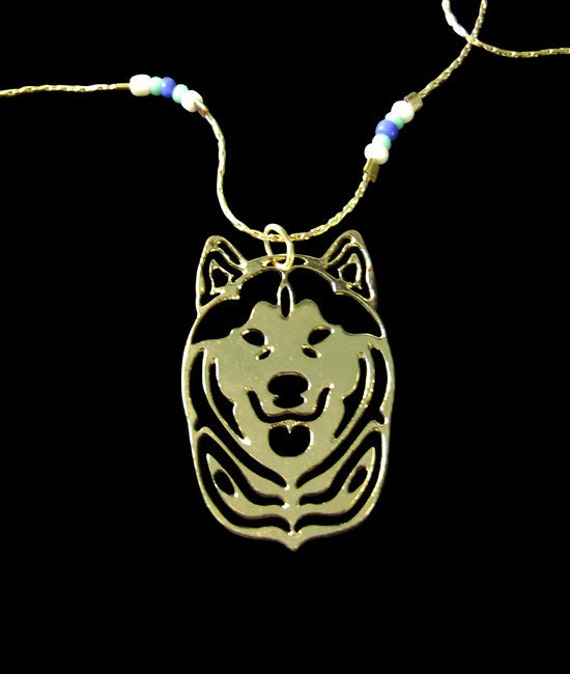 Siberian Husky Heart Necklace By Siberianart On Etsy