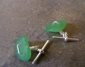 RESERVED FOR JUSTBLEAK Tidal Seaglass Cufflinks