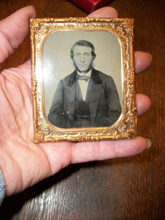 SALE - Antique Victorian Ambrotype Looks Like Honest Abe's Brother from Rustysecrets