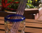 Eco Glass Straws - Spring Fling PINK - Set of 4 Regular Size - Reusable and Eco-Friendly -  Lifetime Guarantee