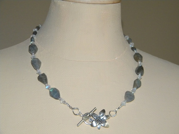 Labradorite and Moonstone - FREE Shipping - Necklace