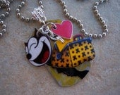 Felix the Cat Necklace - Recycled Aluminum Can Art