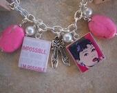 Audrey Hepburn Charm Bracelet - Classic Quotes