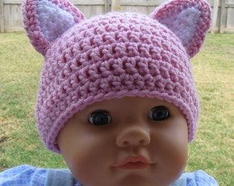 Items similar to PATTERN Crochet Baby Cat Hat Child Cap ...