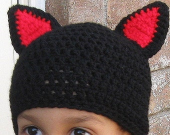 Cat Hat, YOUTH SIZE, Custom Made In Your Choice Of Colors