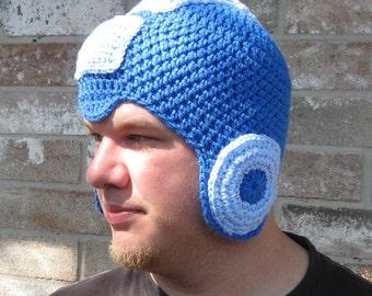Megaman Crochet Hat