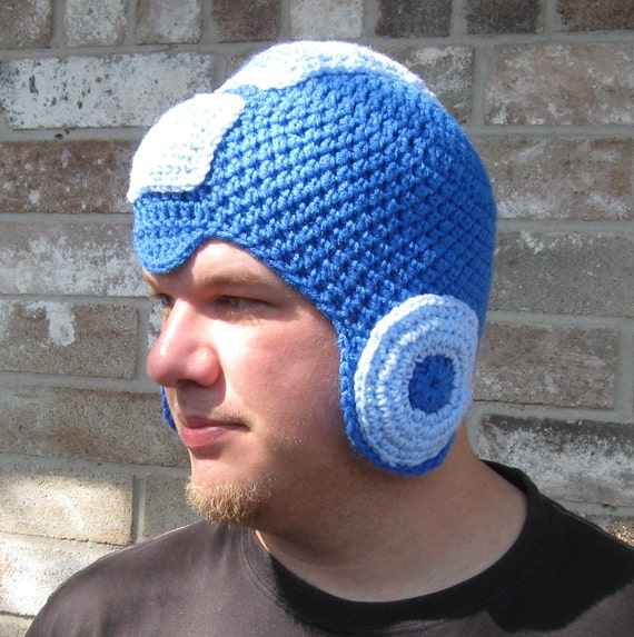 top gun hat template - megaman crochet hat