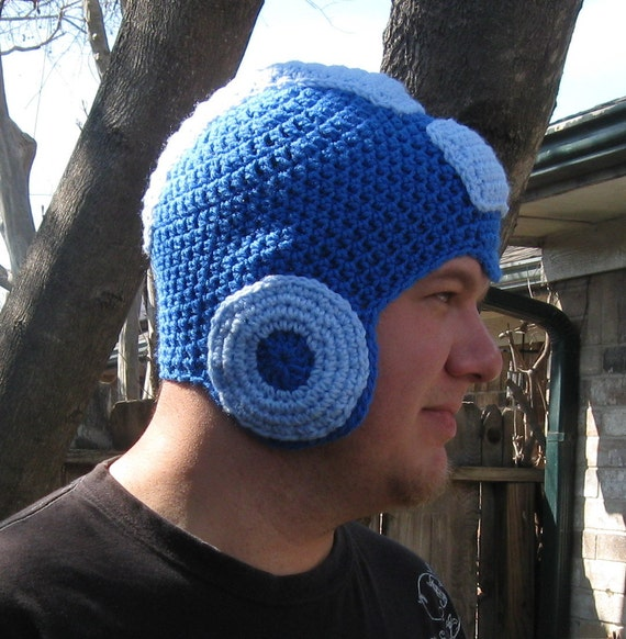 Megaman Crochet Hat by ImSewCrafty on Etsy