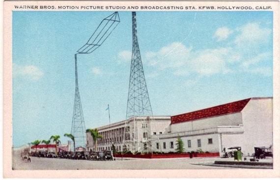 Vintage California Postcard - Warner Bros. Studio, Hollywood (Unused)