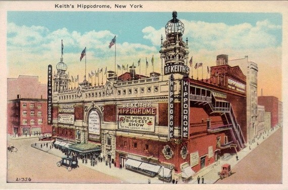 Vintage New York City Postcard - The Hippodrome Theatre (Unused)