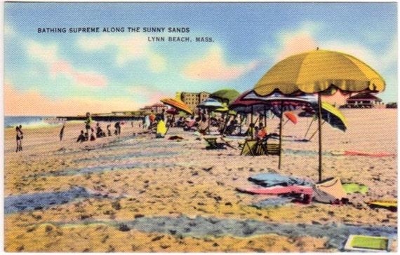 Vintage Massachusetts Postcard - Lynn Beach (Unused)