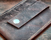 Stocking Stuffers for Guys, Christmas Gift Ideas, Small Gifts, Leather Card Wallet, Leather Business Card Holder