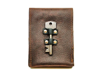 steampunk leather phone case, leather iphone wallet, distressed leather iphone 5 card wallet sleeve case