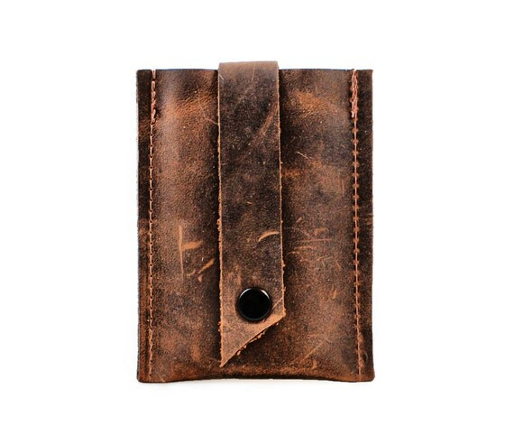 Stocking Stuffers for Guys,  Christmas Gift Ideas, Small Gifts, Leather Business Card Holder,  minimalist wallet, leather card wallet
