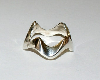 the Crown Ring stacking rings - 925 sterling silver (OOAK)