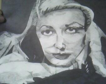 Brilliant Bombshells 1- Lauren Bacall Stippled
