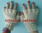 Knitting Pattern PDF - Fingerless Gloves for Men and Women
