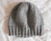 Men's Wool Winter Hat - Light Gray