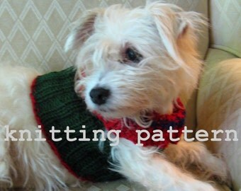 Knitting Pattern PDF - The Peggy Sweater for Small Dogs