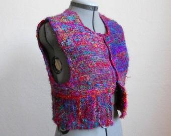 Knitting Pattern PDF - Sari Silk Vest