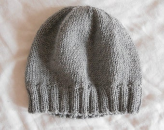 Men's Wool Winter Hat - Light Gray