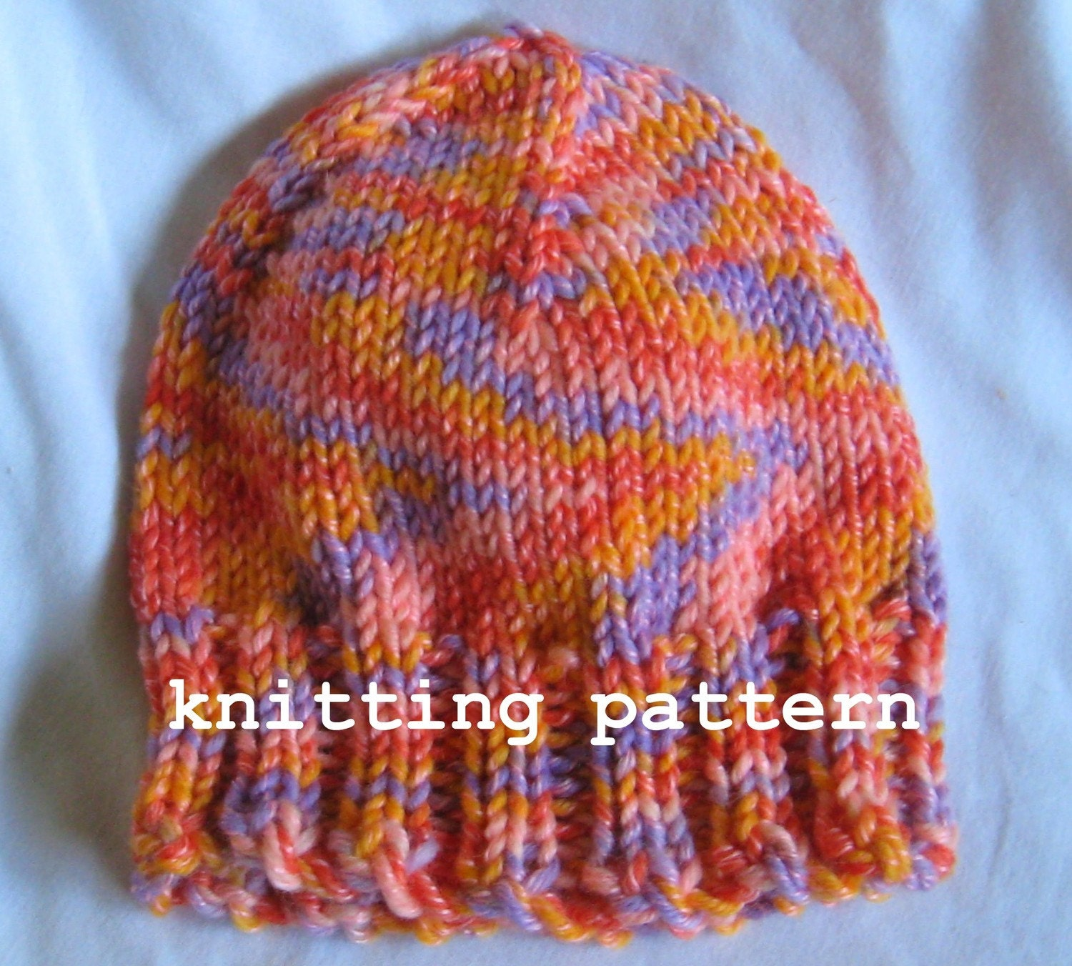 Knitting Pattern Wooly Hat : Knitting Pattern PDF Wool Blend Beanie
