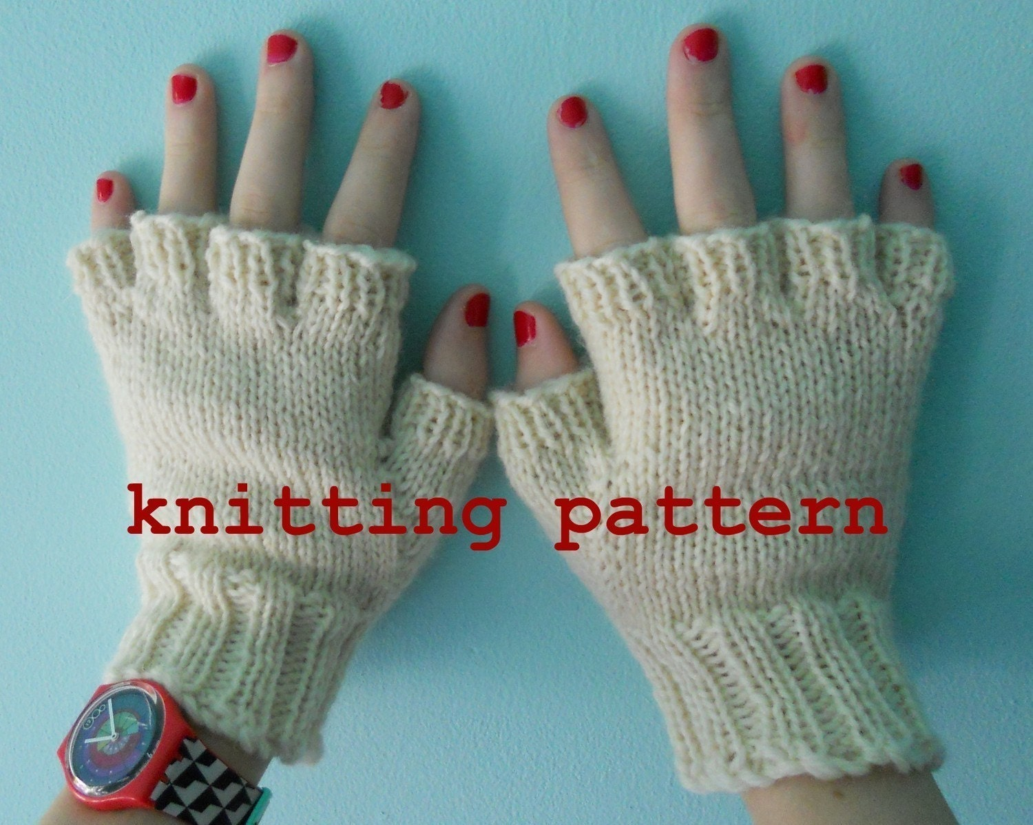 Knitting pattern pdf fingerless gloves for men and women zoom bankloansurffo Choice Image