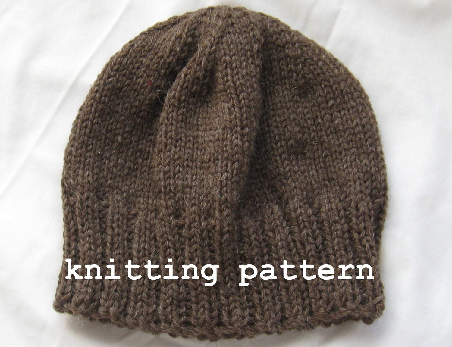 Knitting Pattern For Beanie : Knitting Pattern PDF Mens Winter Beanie