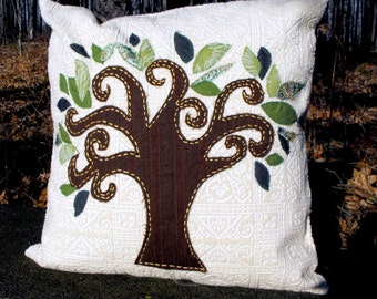 SALE - Tree of Life Pillow Cover / Sham 18X18
