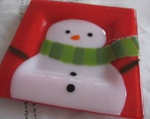 "Snowman Red 6"" Plate"