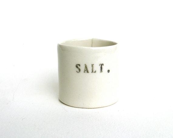 salt   ...   hand built porcelain vessel