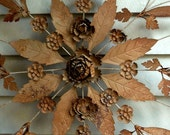 RESVD for jujub99 Vintage Mexican Wrought Iron Flower Medallion HUGE