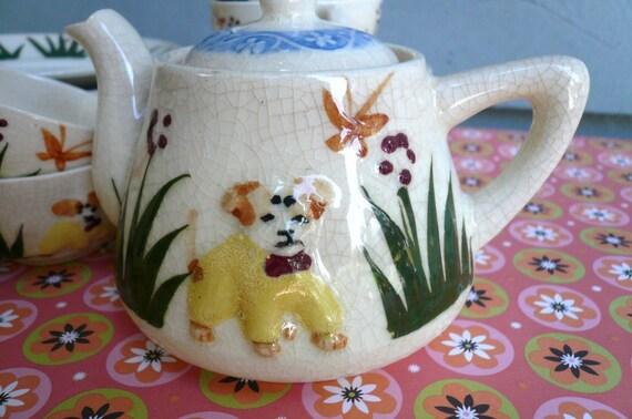 Japanese Majolica Childs Tea Set