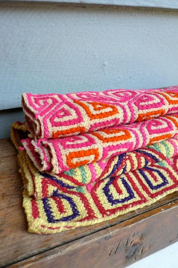 Vintage Mexican Textile Handwoven
