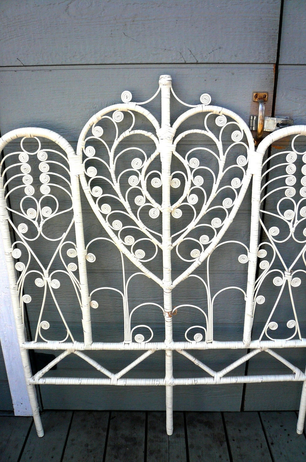 Resvd For Erika Vintage 60 S Wicker Headboard By
