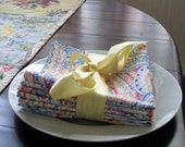 Paisley Cloth Napkins Set of 4 Red Blue Yellow White