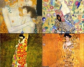 GLASS Coasters - Klimt Collection - Set of 4
