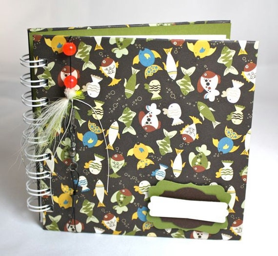 Pregnancy Journal, Baby Journal, fun fish, personalize, upcycled Journal, Diary or Notebook, 100 lined pages, personalize