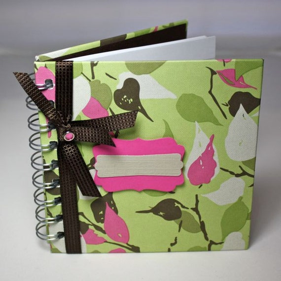 Personalized Pregnancy Journal, Baby Journal, baby memory book, bright pink and green, 80 lined pages, spiral bound, personalize
